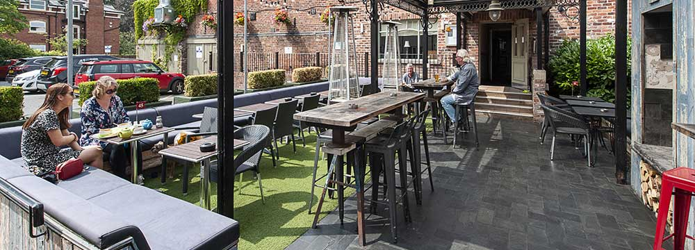 Beer Garden in Wilmslow, Cheshire
